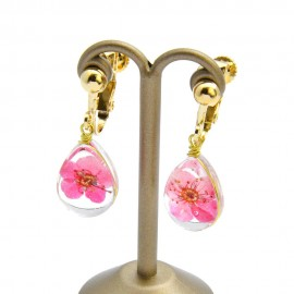 Clip Dried Flower Earrings